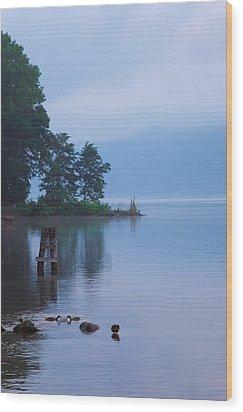 Misty Morning II Wood Print by Steven Ainsworth