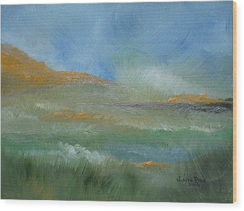 Wood Print featuring the painting Misty Morning by Judith Rhue