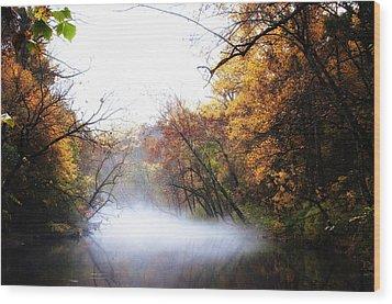 Misty Wissahickon Wood Print by Bill Cannon