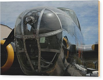 Mitchell B-25 Bomber Wood Print by Christopher Kirby