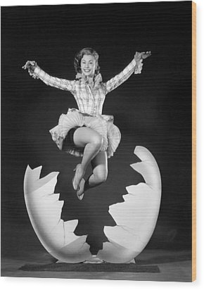 Mitzi Gaynor, Ca. Early 1950s Wood Print by Everett