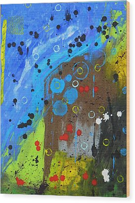 Wood Print featuring the painting Mix It Up by Everette McMahan jr