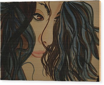 Wood Print featuring the painting MMG by Teresa Beyer