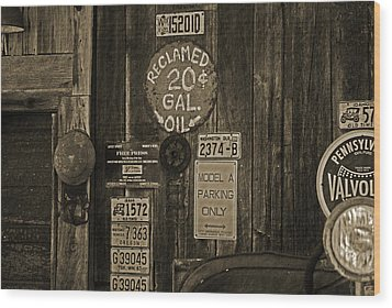 Model A Parking Wood Print by Terrie Taylor