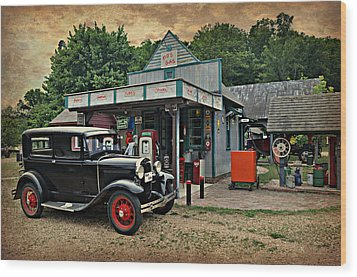 Model A Station Wood Print by Marty Koch