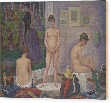 Models Wood Print by Georges Seurat