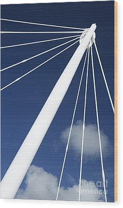 Modern Abstract Structure Wood Print by Gaspar Avila