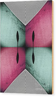 Modern Abstract With An African Theme 1 Wood Print by Emilio Lovisa