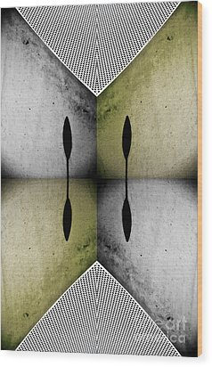Modern Abstract With An African Theme 2. Wood Print by Emilio Lovisa