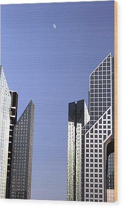 Modern Architecture  Wood Print by Radoslav Nedelchev