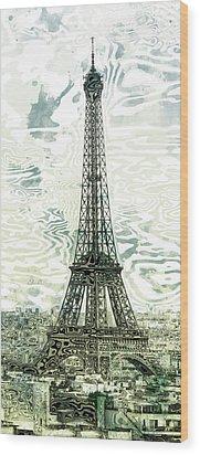 Modern-art Eiffel Tower 12 Wood Print by Melanie Viola