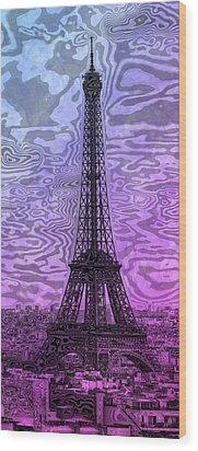 Modern-art Eiffel Tower 14 Wood Print by Melanie Viola