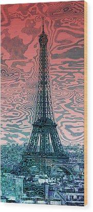 Modern-art Eiffel Tower 17 Wood Print by Melanie Viola