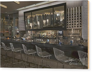 Modern Bar Wood Print by Robert Pisano