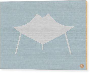 Modern Chair Wood Print by Naxart Studio