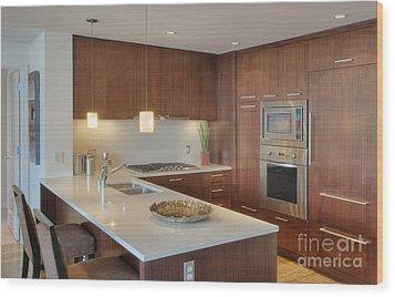 Modern Kitchen Interior Wood Print by Andersen Ross