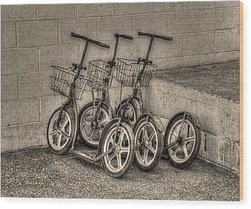 Modern Old Ways In Black And White Wood Print by Greg and Chrystal Mimbs