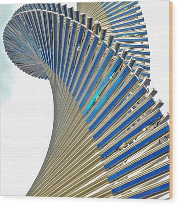 Modern Twist Sculpture Wood Print by Kirsten Giving