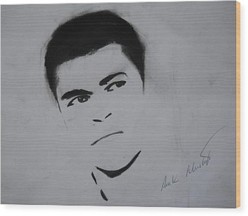Mohammed Ali Wood Print by Ahmed Mustafa