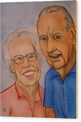 Mom And Dad Wood Print by Pete Maier