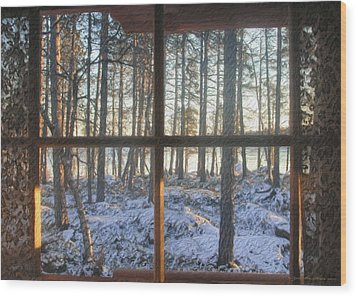 Wood Print featuring the painting Moment by Sipo Liimatainen
