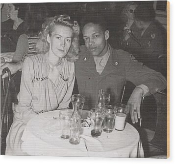 Wood Print featuring the photograph Momma And Daddy In 1949 by Alga Washington