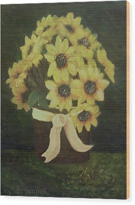 Wood Print featuring the painting Mom's Bouquet by Christy Saunders Church