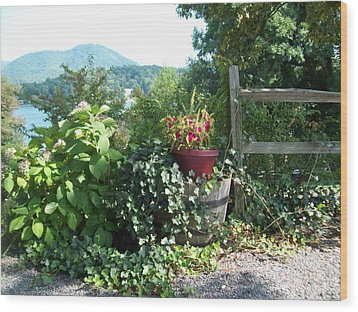 Wood Print featuring the photograph Mom's Garden by Lou Ann Bagnall