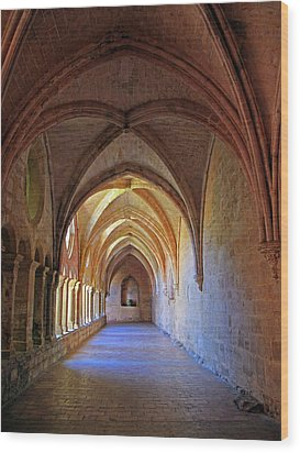 Wood Print featuring the photograph Monastery Passageway by Dave Mills