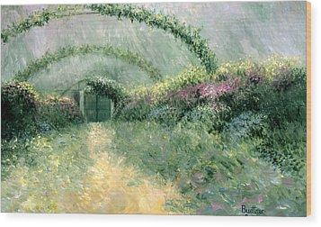 Monet's Trellis IIi Wood Print