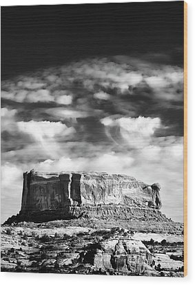 Monitor Butte Wood Print