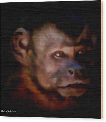 Monkey See Wood Print by Debra     Vatalaro
