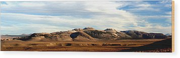 Mono Craters Panorama Wood Print by Lynn Bawden