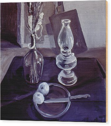 Monotone Still Life 1977 Wood Print by Nancy Griswold