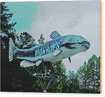 Monroe's Catfish  Wood Print by Lizi Beard-Ward