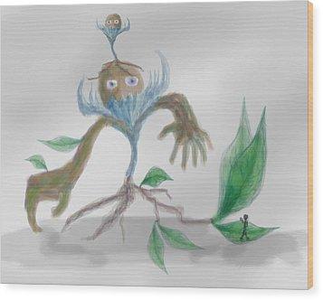 Monster Tree Wood Print by Sebopo Art