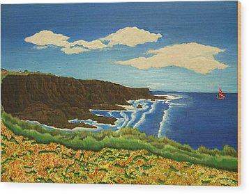 Montana De Oro Wood Print