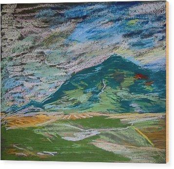 Montana Range Wood Print by Francine Frank
