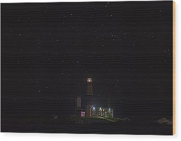 Montauk Starry Night Wood Print by William Jobes
