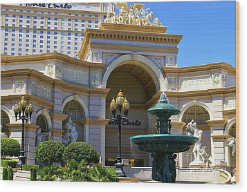 Monte Carlo Casino Resort Wood Print by Mariola Bitner