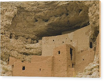 Wood Print featuring the photograph Montezuma's Castle by Tom Singleton