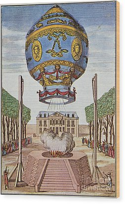 Montgolfier Hot Air Balloon Wood Print by Science Source