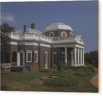 Monticello Wood Print by Andrew Soundarajan