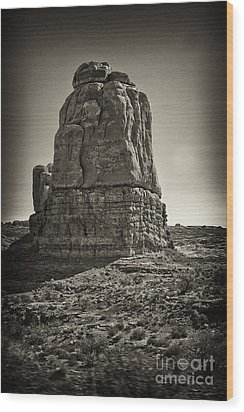 Wood Print featuring the photograph Monument by Linda Constant