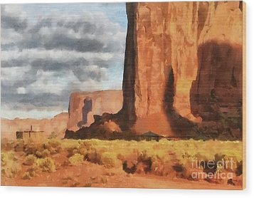 Monument Valley Hogans Wood Print