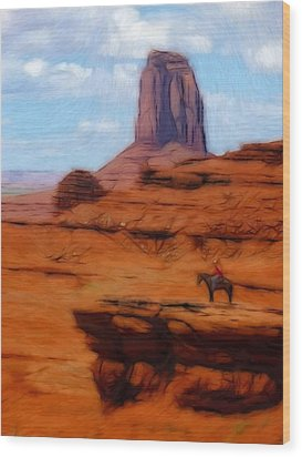 Monument Valley Pastel Wood Print by Steve K