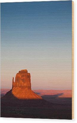 Monument Valley Sunset Wood Print by Dave Bowman