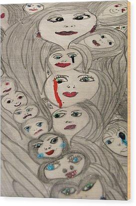 Moods Wood Print by HollyWood Creation By linda zanini