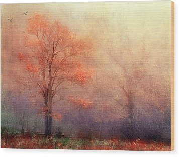 Moods Of Autumn Wood Print by Darren Fisher