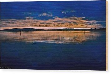 Moody Blue Wood Print by Mitch Shindelbower